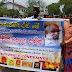 வடக்கு முதல்வருக்கு எதிராக பொதுபல சேனா வவுனியா கச்சேரி முன்னால் போராட்டம்.