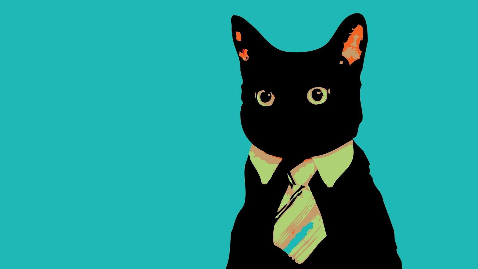 black cat art wallpaper