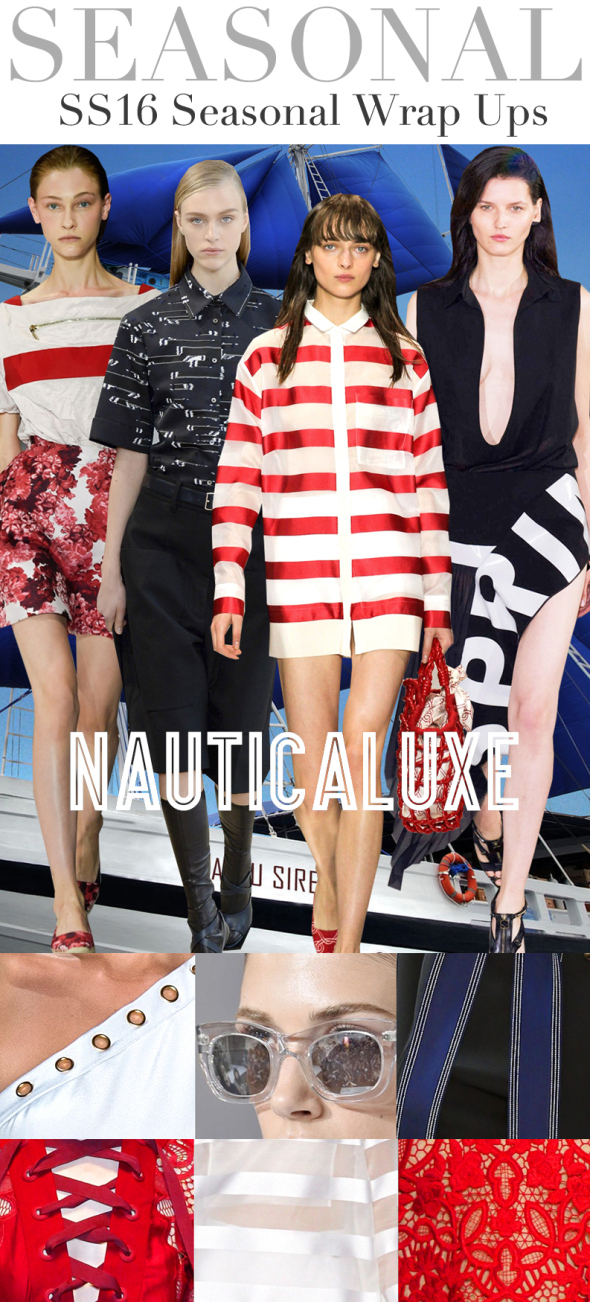 TRENDS // TREND COUNCIL - SS 2016 . NAUTICALUXE