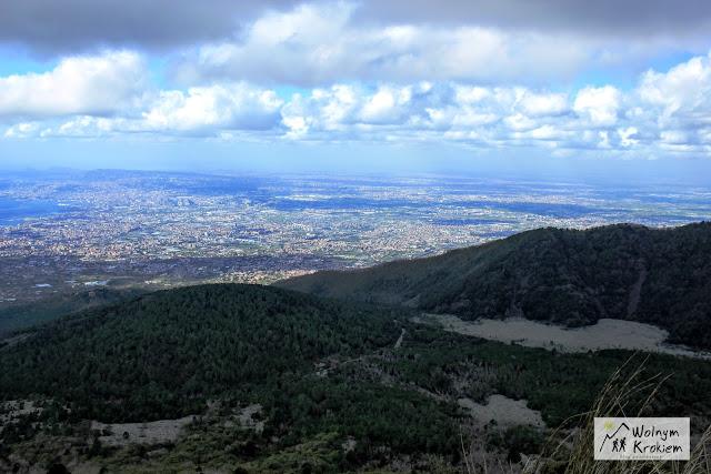 Widok na Neapol z Wulkanu Wezuwiusz