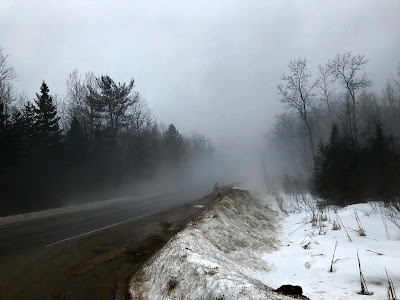 February 20, 2018 Driving to and from work in the fog.