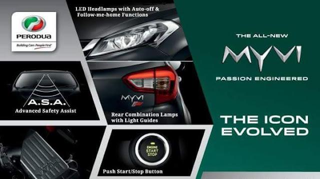 Gambar, Harga dan Spesifikasi Perodua Myvi 2018 Baharu
