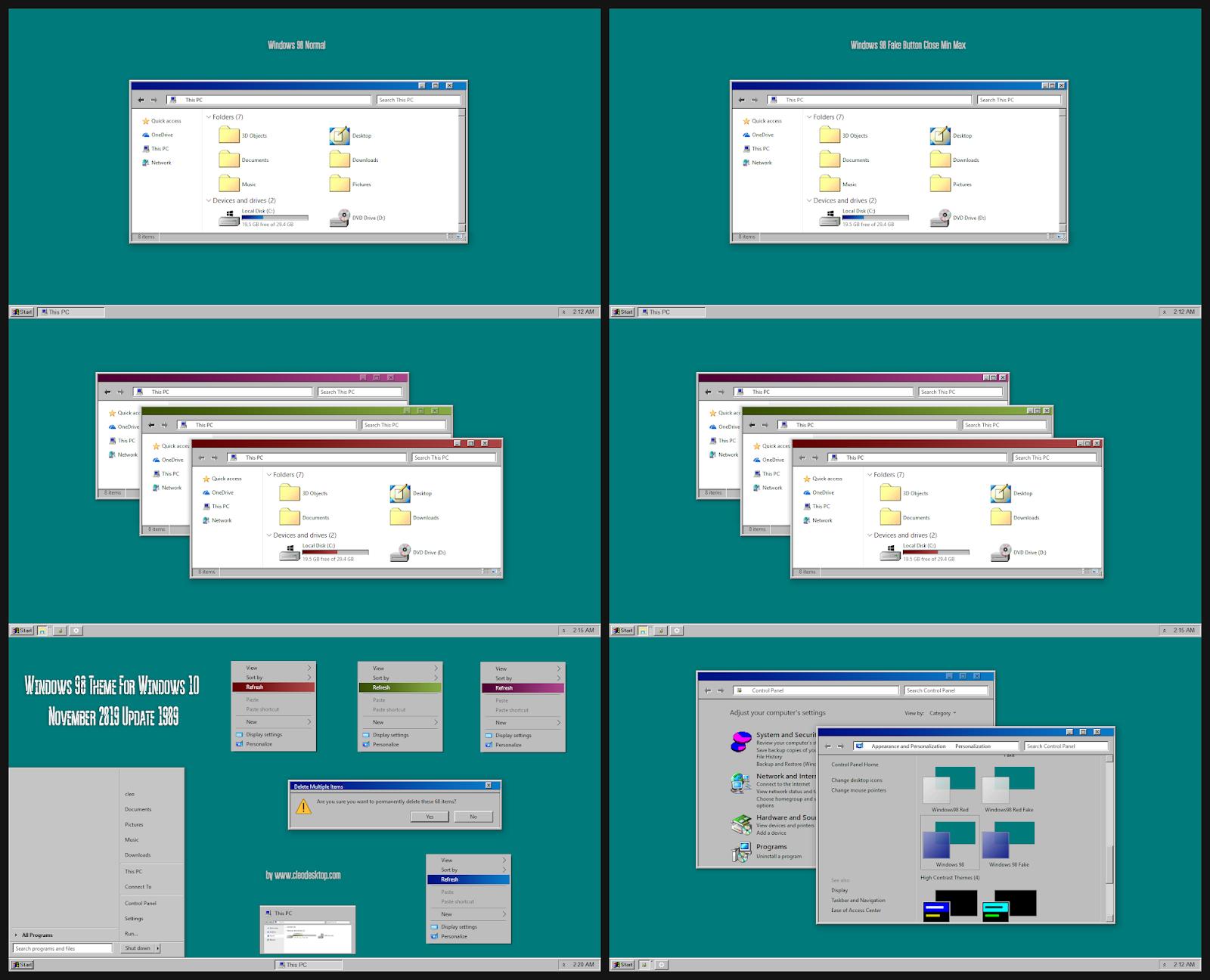 Windows 98 Theme For Windows10 2004