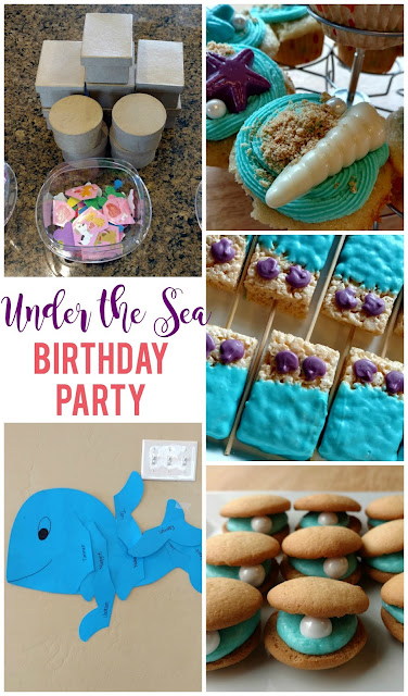 Everything you need for a fun and simple under the sea or mermaid birthday party!