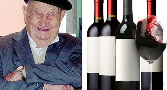 107 Vjeçari që Konsumonte 3 litra verë çdo ditë
