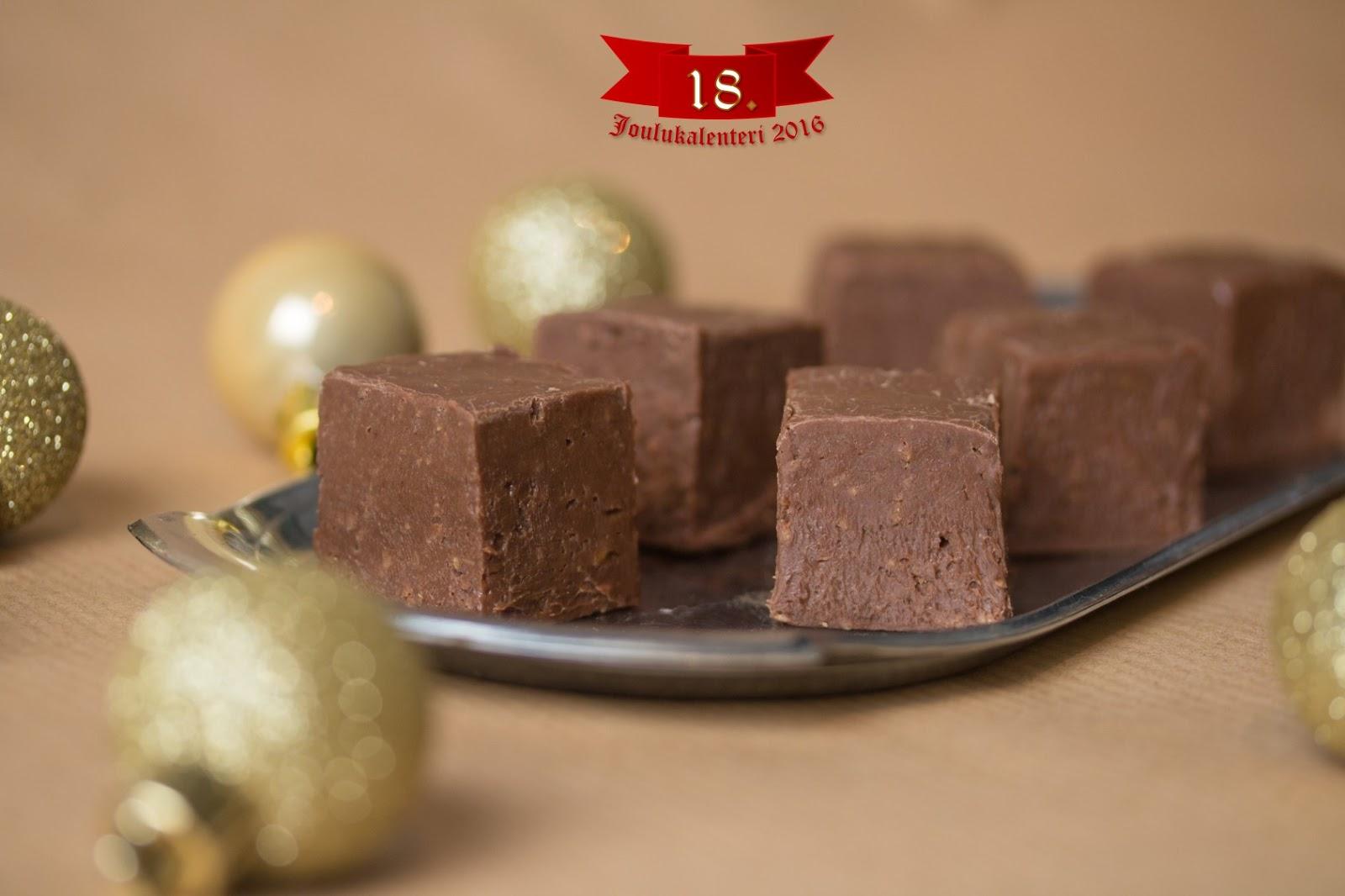 joulukalenteri 2018 suklaa Taikinatassut: Joulukalenterin luukku 18: Appelsiini suklaa fudge joulukalenteri 2018 suklaa