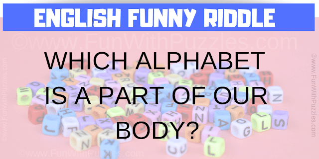 WHICH ALPHABET IS A PART OF OUR BODY?
