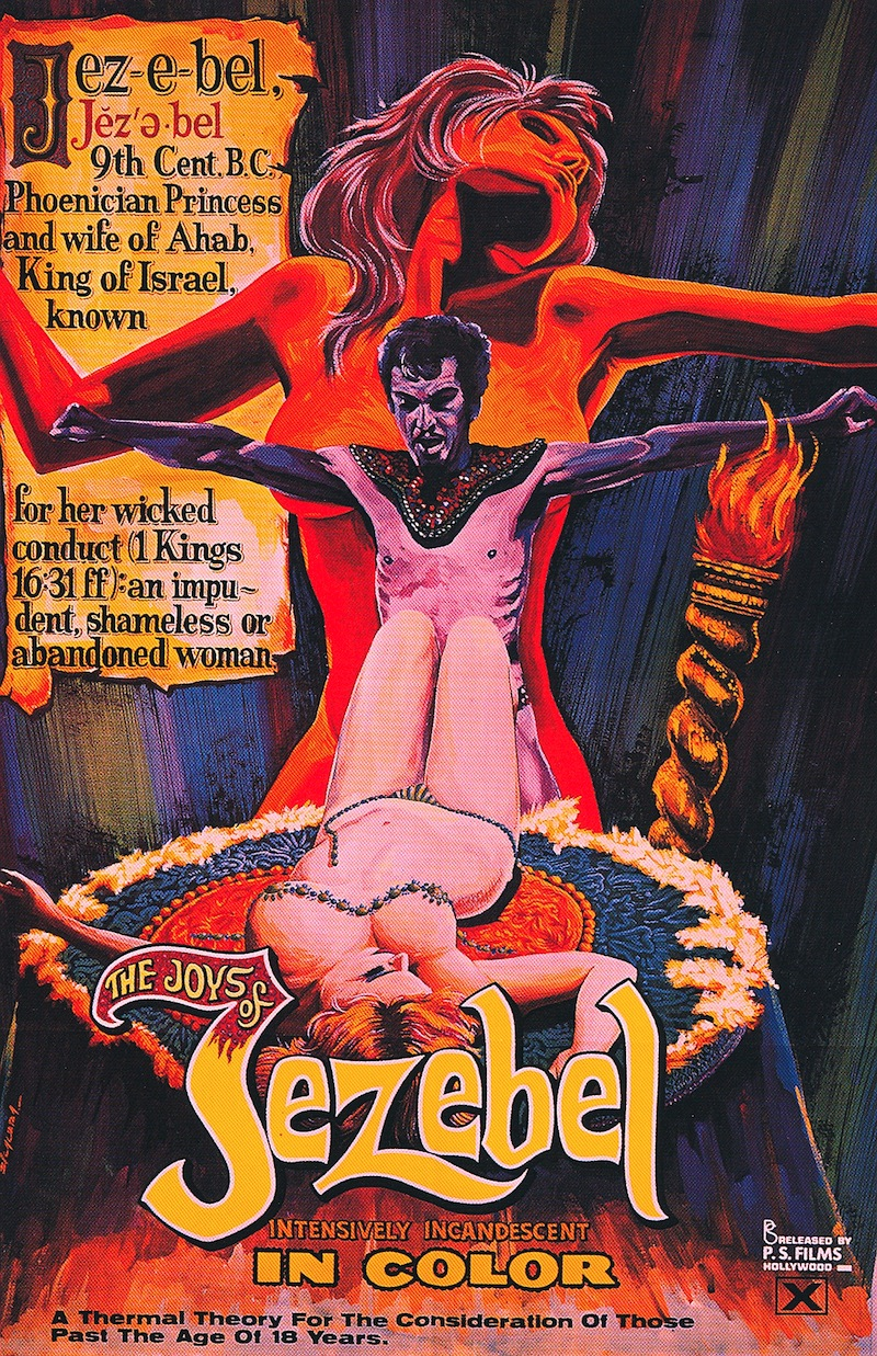 Ahab Porn - Vintage Porn Poster: The Joys of Jezebel, 1970