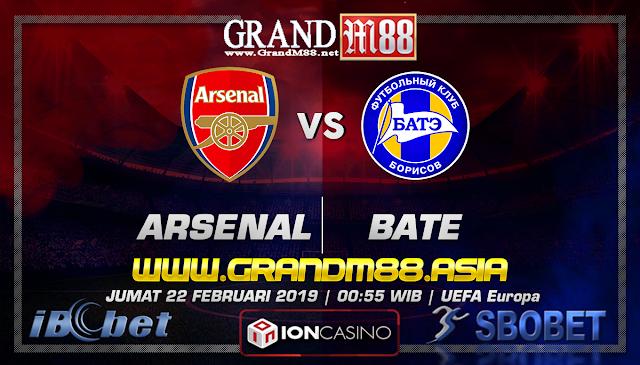 Prediksi Skor GrandM88 Arsenal vs BATE Jumat, 22 Februari 2019