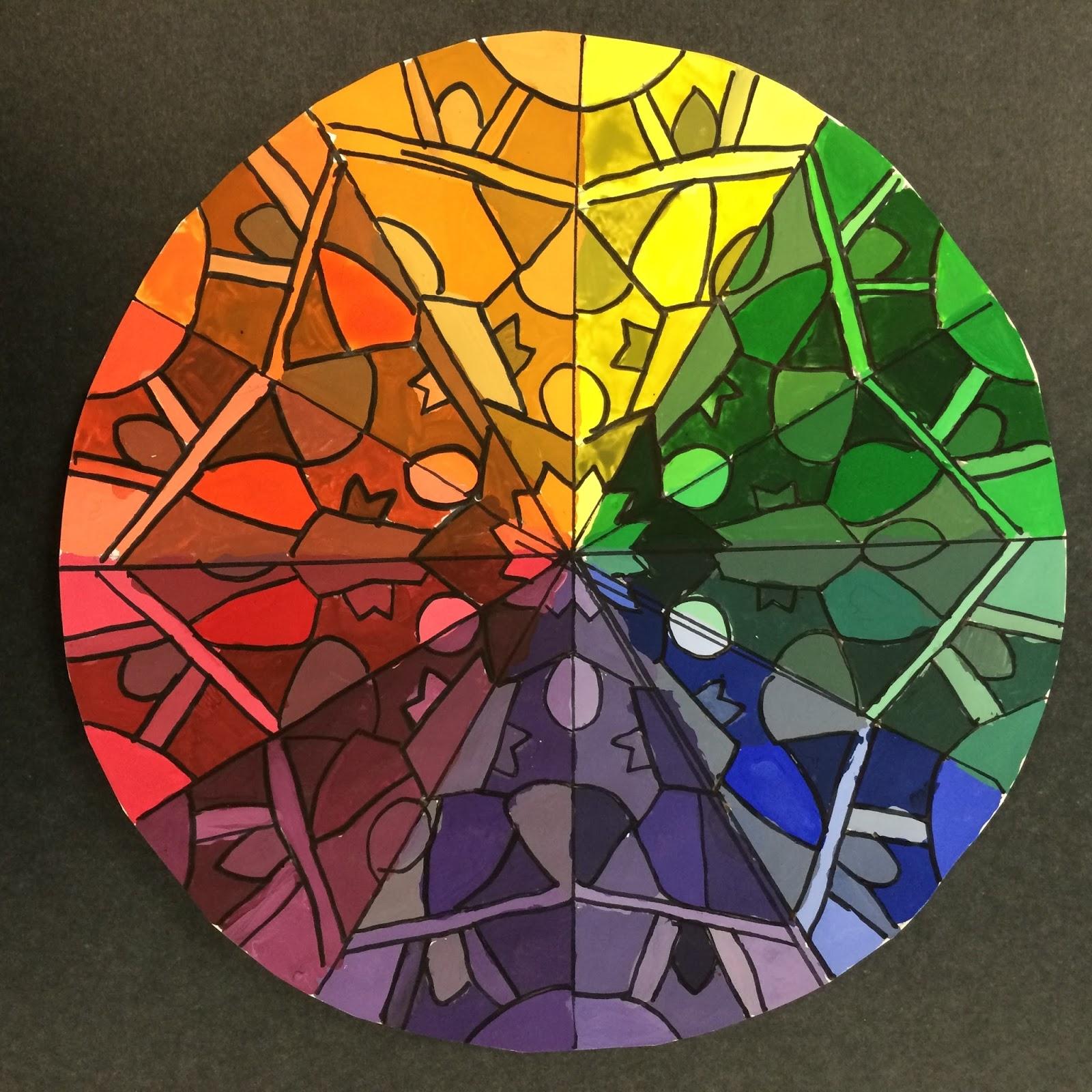 Mrs Wille S Art Room Advanced Art Color Wheel Kaleidoscopes