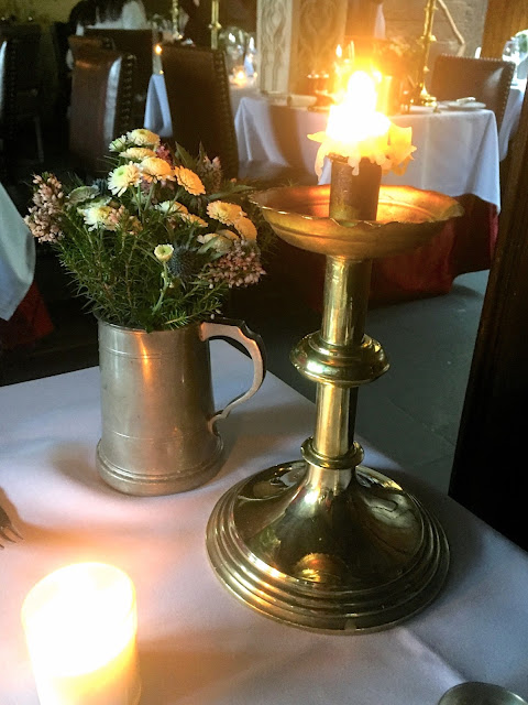Table decorations for afternoon tea in the Secret Garden, The Witchery by the Castle, Edinburgh