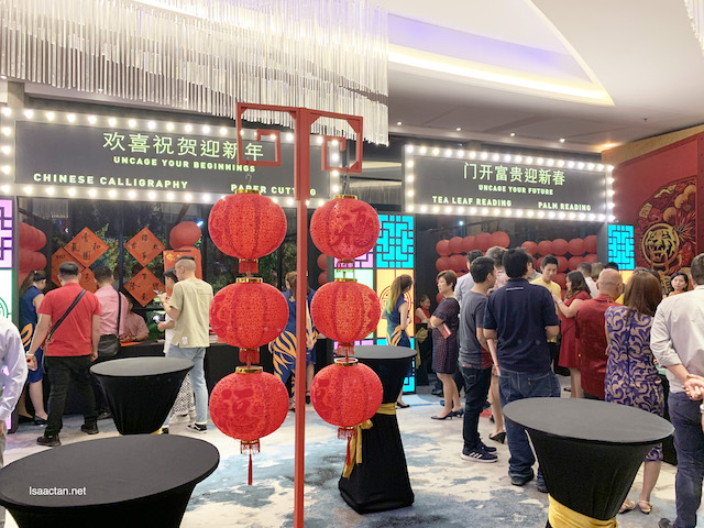 Various booths were set up