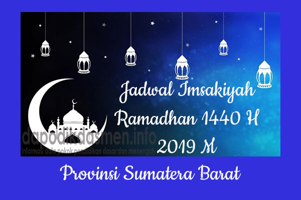 Jadwal Imsakiyah Ramadhan Provinsi Sumatera Barat