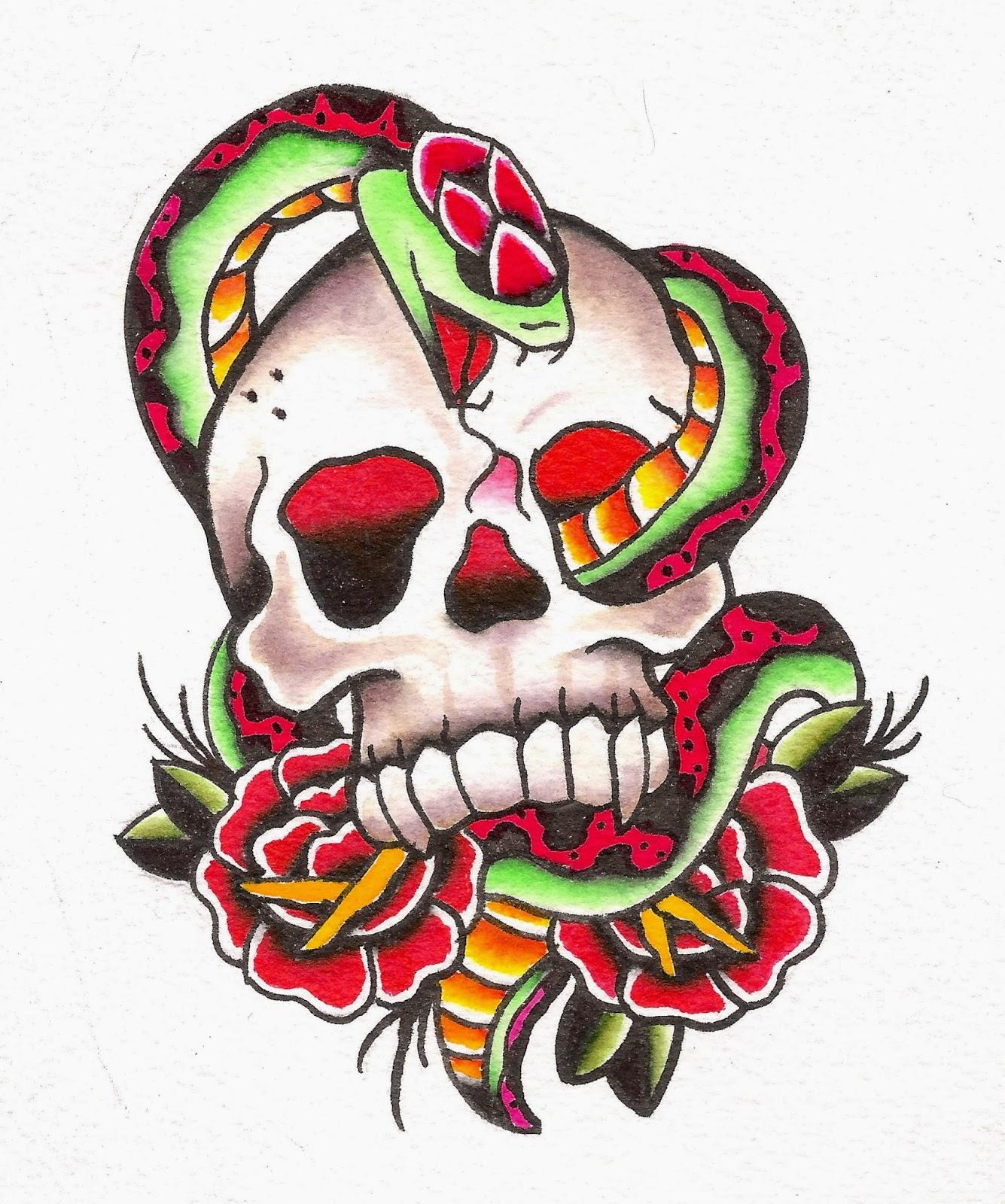 """Snake Skull Tattoo: Jaimie""""As You Wish..."""" Filer: Art Of Doom: Skull And Snake"""