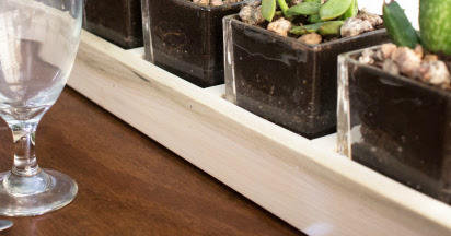 How to Make a Long Wood and Glass Succulent Planter