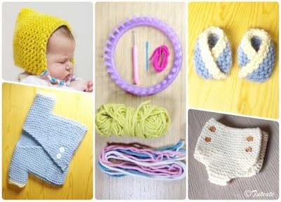 Telar redondo-Quiero tejer el ajuar esencial a mi bebe