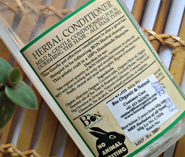 Bon Organics Herbal Conditioner Review