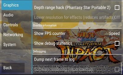 Cara Setting Naruto Ninja Impact PPSPP