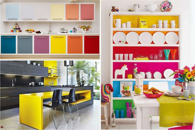 Colorful Kitchen Designs - Cool Multi-Colored Design Ideas For Your Kitchen Walls And Cabinets