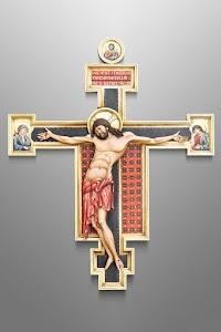 A Cimabue Inspired Italian Crucifix