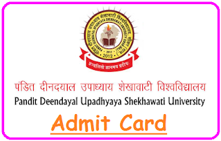 PDUSU Sikar Admit Card 2020