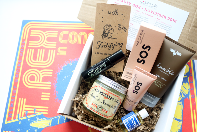 Love Lula Beauty Box - November 2016 review