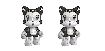"Kickstarter Exclusive Bendy Bones SuperJanky 8"" Vinyl Figure by Squink x SUPERPLASTIC"