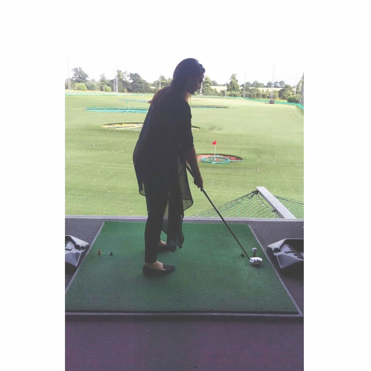 Preparing to swing