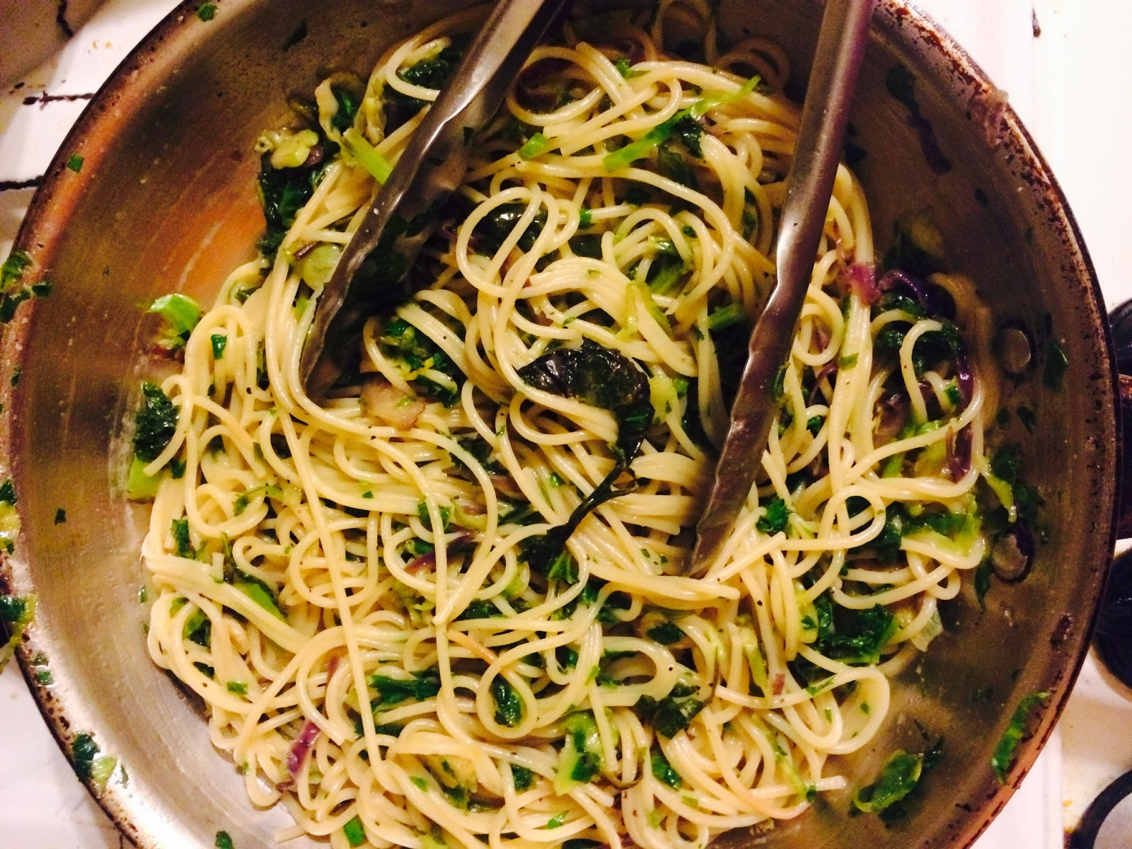 recipe, pasta, vegetables, dinner, eating fabulously, blog, Christopher Stewart, kale, Meatless Monday