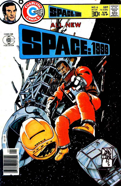 Space 1999 v1 #6 chalrton bronze age comic book cover art by John Byrne