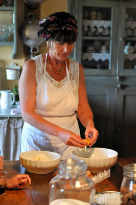 Making Dessert at Borgo Argenina in Gaiole in Chianti, Italy - Photo by Taste As You Go