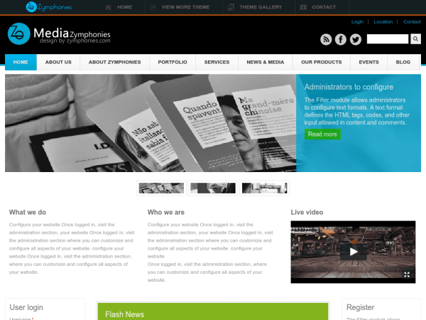 30 Best Free Drupal 7 Responsive Themes 2014