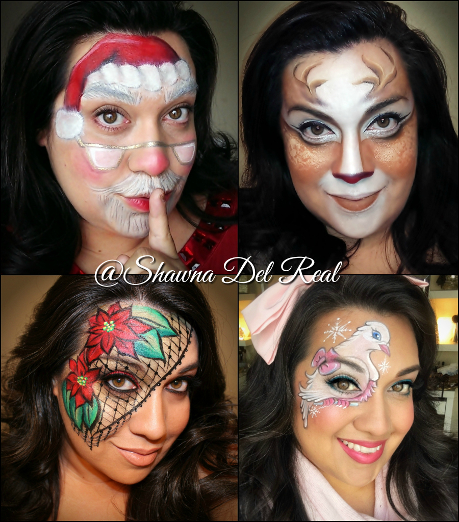 Christmas Face Paint.Shawna D Make Up Christmas Face Painting Ideas