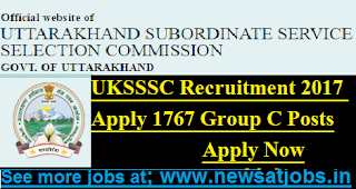 UKSSSC-1767-Group-C-Posts-Recruitment-2017