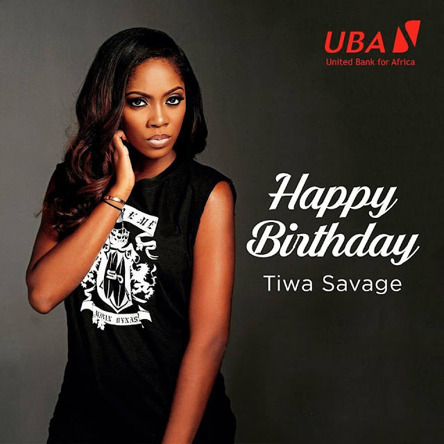 Happy birthday to Tiwa Savage!!!