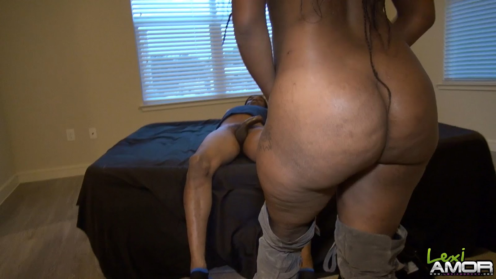 Phat booty black maid fucked hard by white devil