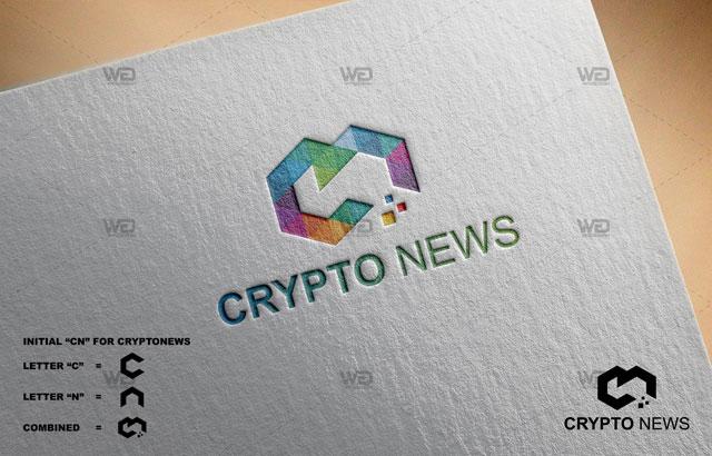 CRYPTO NEWS ID Logo Branding - WaDesiGh Logo Template