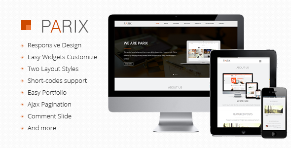 parix- one page blogger template