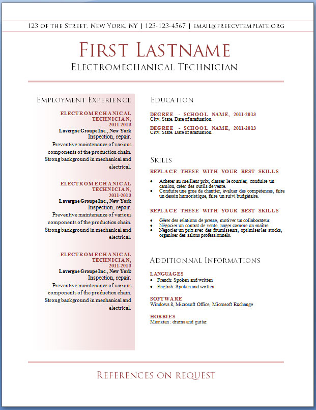 free resume template the only one youll ever need