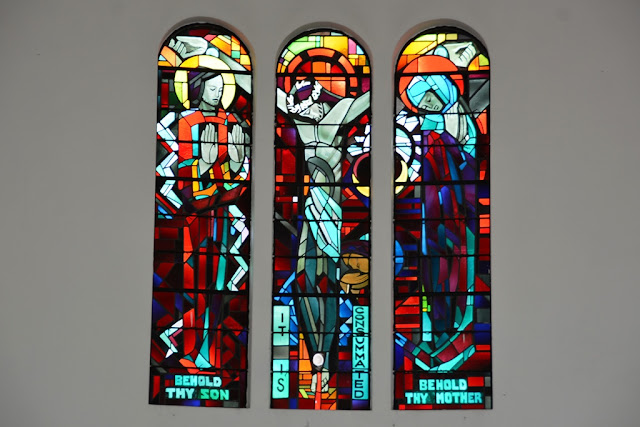 St. Johns cathedral KL fire glass