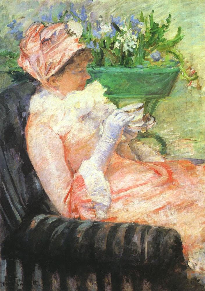 A Xícara de Chá - Pinturas de Mary Cassatt | Mulheres na pintura