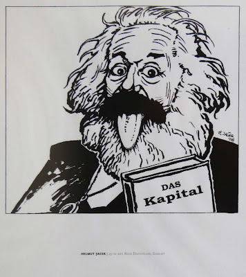 Karl Marx Das Kapital cartoon Einstein Look