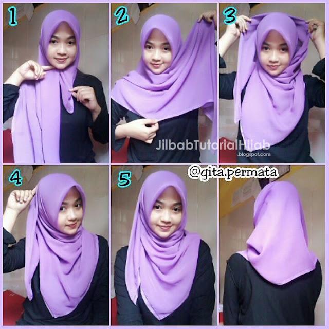 Tutorial Hijab Segi Empat untuk Sehari-hari casual terbaru