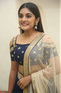 Niveda Thomas in Lovely Blue Cold Shoulder Ghagra Choli Transparent Chunni ~ Exclusive Celebrities Galleries 008
