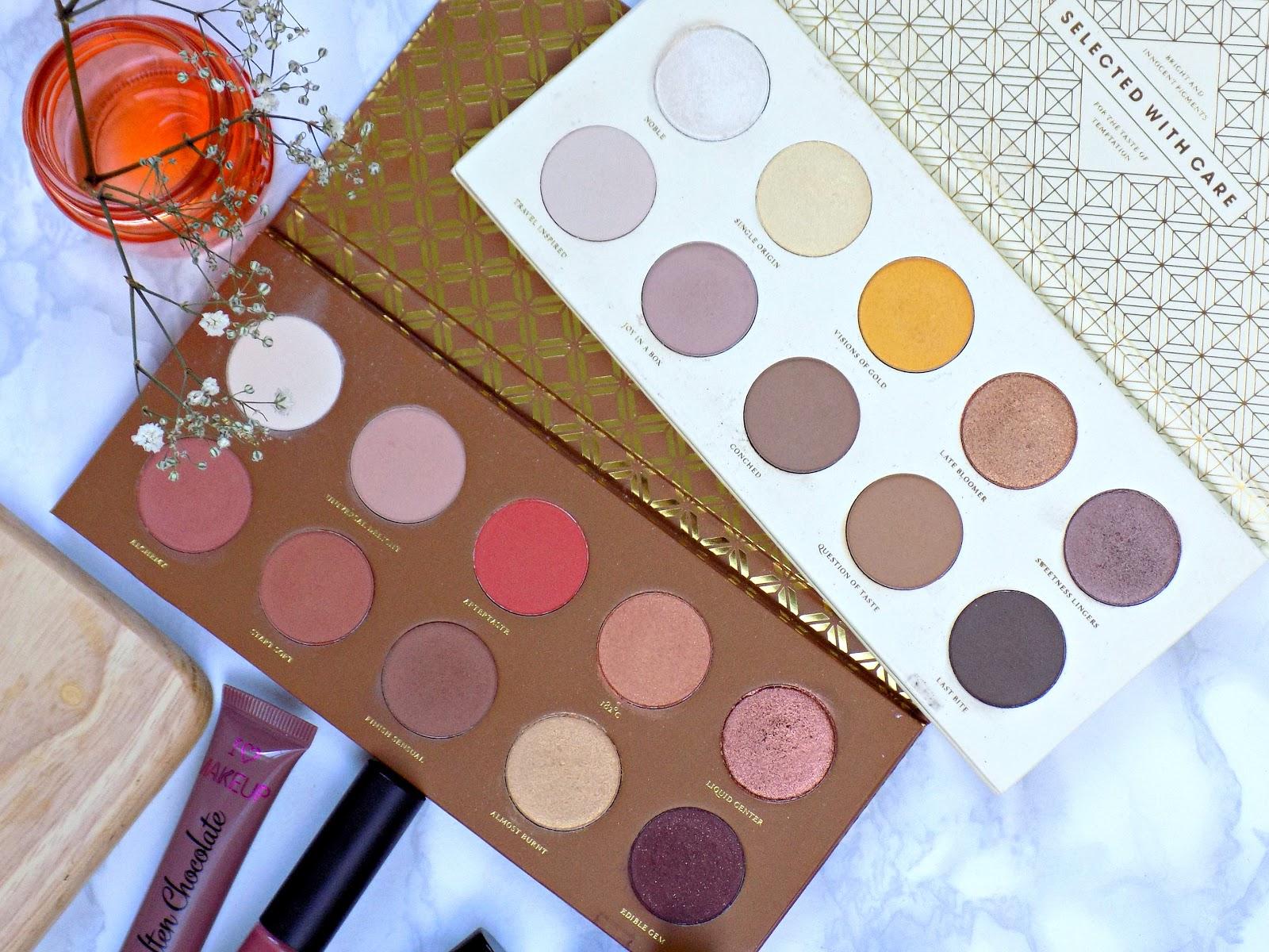 Zoeva Caramel Melange and Blanc Fusion palettes