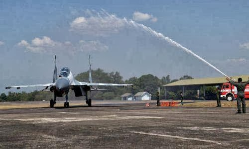 Prosesi Pelangi untuk serah terima Sukhoi Su-30MK2