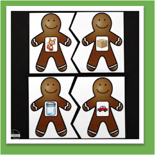 Christmas Gingerbread Rhyming Puzzles