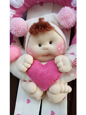 Fiocco nascita bimba rosa cuori