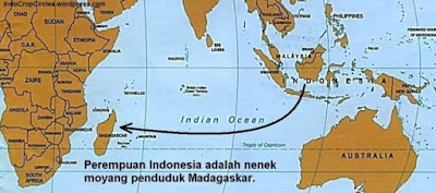 nenek moyang negara Madagasikara berasal dari indonesia.