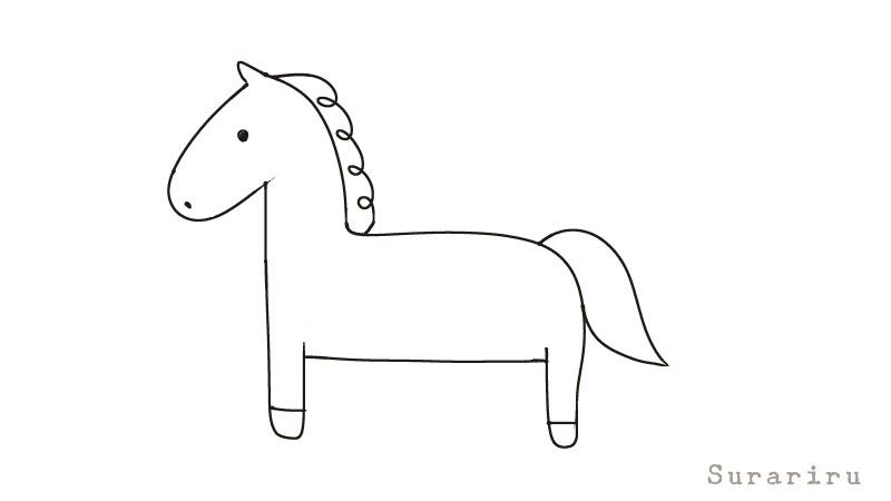 簡単にそれっぽく見える馬の描き方 動物イラスト 遠北ほのかのイラストサイト